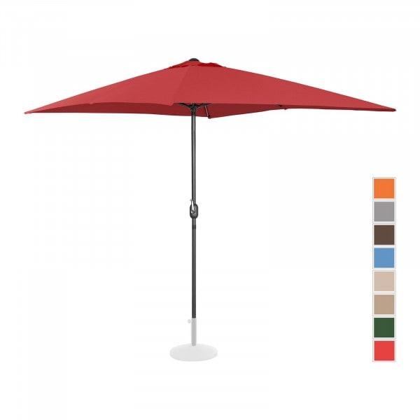 Tweedehands Grote parasol - bordeaux - rechthoekig - 200 x 300 cm