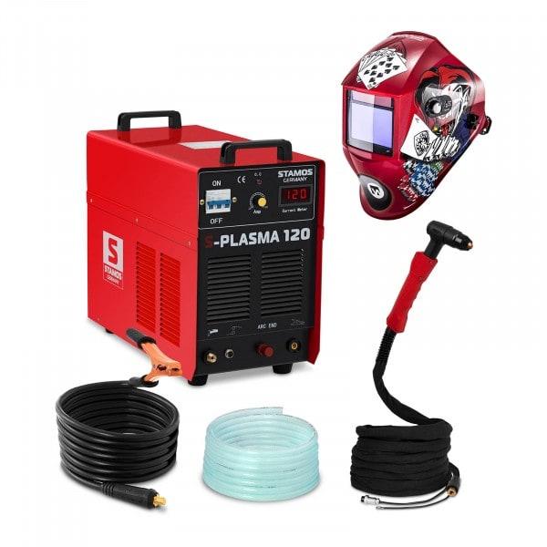 Plasmasnijder - 120 A - 400 V - Pilotontsteking + Lashelm – Pokerface – PROFESSIONAL SERIES