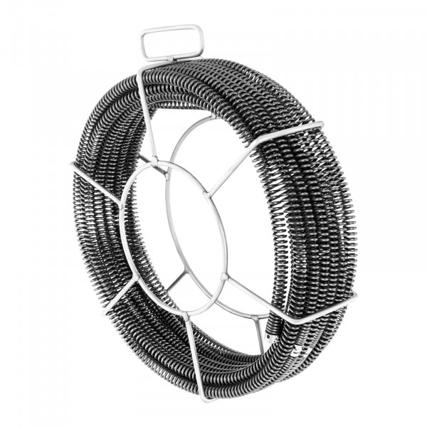 Pijpreinigingsspiralen set 5 x 2,3 m/ Ø 16 mm + 1 x 2,4 m/ Ø 15 mm