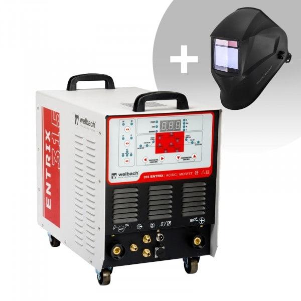 Lasmachine Aluminium - 315 A - 400 V - Pulserend - Digitaal - 2/4 takt + Lashelm – BlackONE – EXPERT SERIES