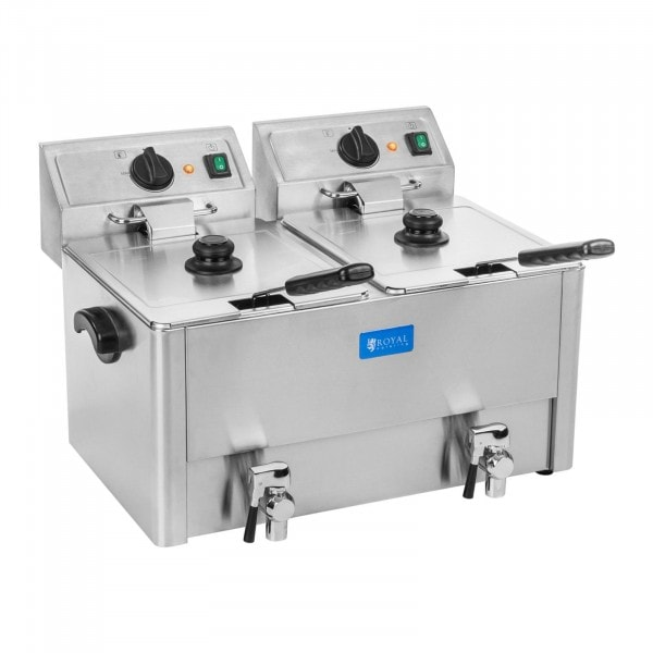 Elektrische friteuse - 2 x 13 liter - EGO-thermostaat