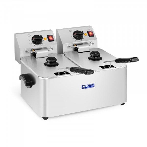 Elektrische friteuse - 2 x 8 liter - EGO-thermostaat