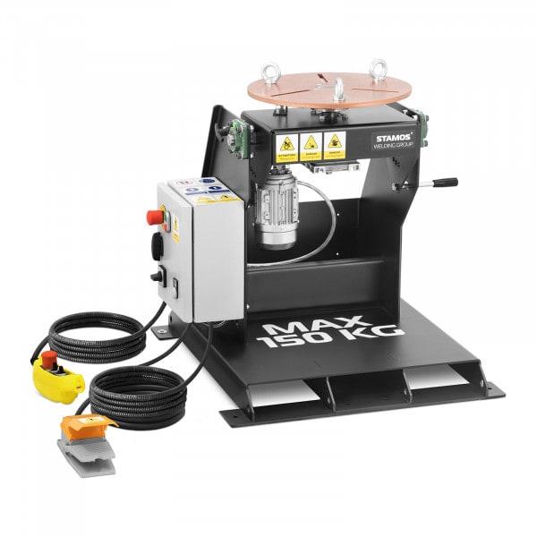 Lassen positioner - 150 kg - tafelhelling 0 - 90 ° - voetpedaal