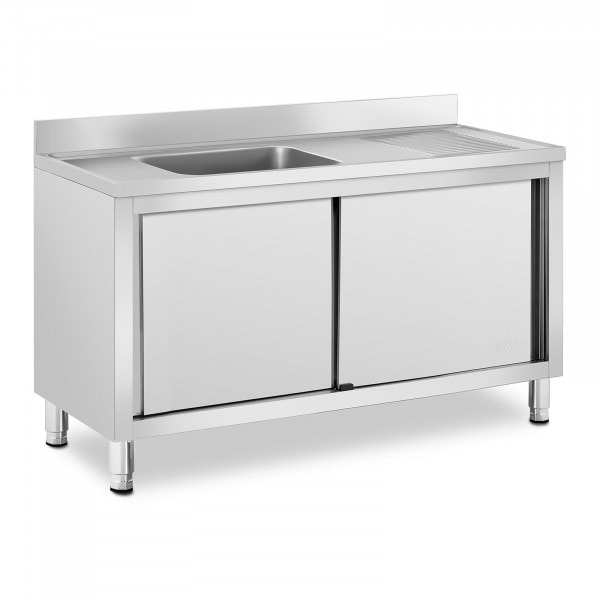 Wastafel kast - 1 Basin - Royal Catering - roestvrij staal - 500 x 400 x 240 mm